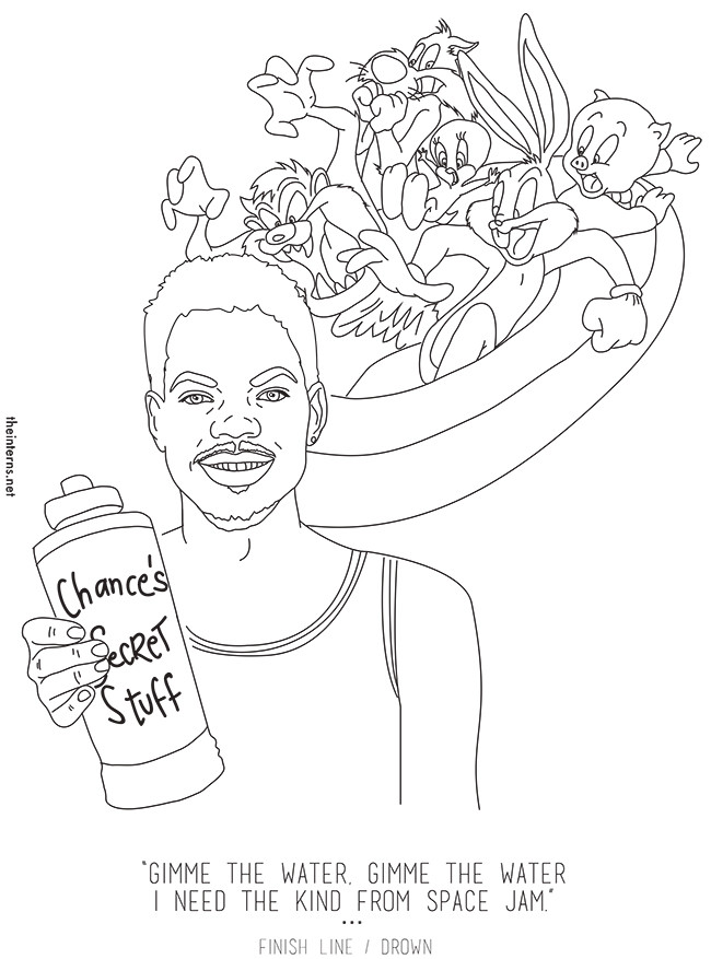 chance the rapper the coloring book is now an actual coloring book - Rapper Coloring Book